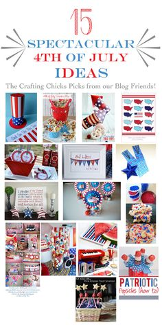 15 Spectacular Fourth of July Ideas Patriotic Crafts, Patriotic Party, July Crafts, Holiday Crafts, Holiday Fun, Holiday Ideas, Holiday Activities, Kid Crafts, Fourth Of July Food