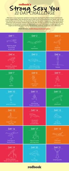 Redbook's Strong Sexy You 21-Day Challenge.  I would like to be sexy.............................