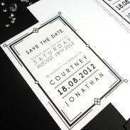 Wedding Save The Date art deco by Love Invited