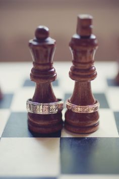 """King & Queen on a chess board"" -- As a 'details photo' idea, I like it. :D"