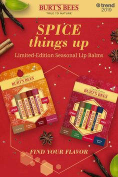 Experience the flavors of the season with a dose of moisture from Burt's Bees limited-edition Lip Balms. They're responsibly sourced, sustainably made, and natural. Tap into the trend! Bb Beauty, Beauty Care, Beauty Skin, Lip Care, Body Care, Chapstick Lip Balm, Glow Up Tips, Burts Bees, Smell Good