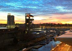 Sunset, Baltimore harbor