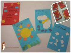 MY WEATHER BOOK - we simply used small pieces of construction papers to learn about the weather in another language