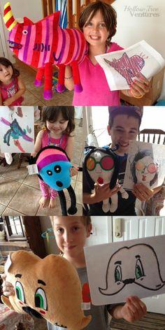 """""""BUDSIES"""" Custom stuffed toys based on kids drawings. Turn art into stuffed animals"""
