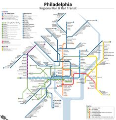 Unofficial Philadelphia Rail Transit Map on Behance
