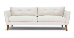 Emil Quartz White Sofa - Sofas - Article | Modern, Mid-Century and Scandinavian Furniture
