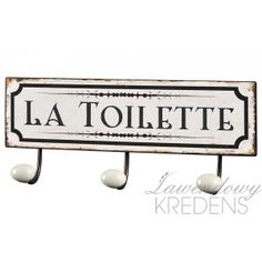Wieszak Retro Toilette Belldeco