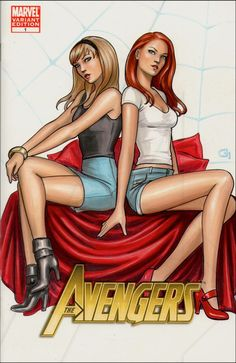 Gwen Stacy and Mary Jane Watson by Dijana Granov *