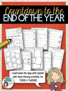 End of Year Countdown Activities for Teens and Tweens! ($)