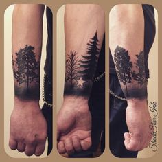 treetattoo black/grey tree tattoos