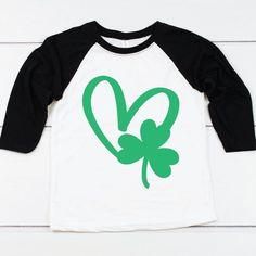 St Patricks Day SVG Shamrock SVG Lucky Heart Funny St image 2