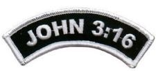 John 3:16 Rocker Jesus Christian Bible Church Saved Biker Vest Patch PAT-1023