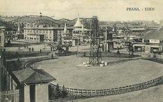 Eden Park Prague in 1922 - Complete with a 5 Kilometer Roller Coaster Eden Park, Roller Coaster, Old Pictures, Homeland, Czech Republic, Paris Skyline, Coasters, Louvre, Things To Come