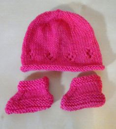 Baby Knitting, Crochet Baby, Drops Baby, Knitted Hats, Winter Hats, Beanie, Elsa, Pink, Hobby