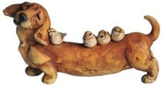 Top Collection Enchanted Story Fairy Garden Dachshund and Birds Outdoor Statue by Top Collection. $11.00. This product measures W: 4.25-Inch. Hand painted and sculpted in amazing detail. Cast in quality designer resin. A thoughtful gift perfect for home or garden. Fairy gardens are here. Bring a sparkle of magic into your home and garden with the Enchanted Story - Fairy Garden line from Top Collection.  Fairy gardens are a miniaturized garden you build with creati...