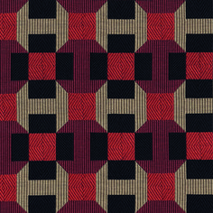 This graphic design echoes Parisian pavement with a highly sophisticated cotton jacquard fabric which enhances the pattern, giving it extra depth by creating a trompe l'œil effect. Textiles, Textile Patterns, Print Patterns, Art Deco Pattern, Abstract Pattern, Pattern Design, Surface Pattern, Surface Design, Tesselations