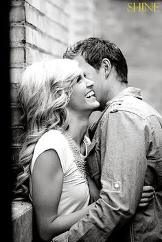 Engagement picture....would love it more if her hand was on the top of his arm and showing the ring!