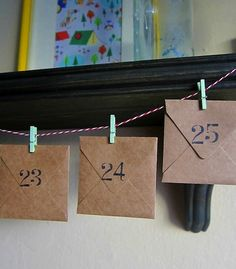 25 advent calendar ideas - Idea for Family Advent Calendar with a good deed inside for all of us to complete. Nice way to introduce what Christmas is about; imitating Christ by serving and loving others. Also reminding us adults since we sometimes forget.