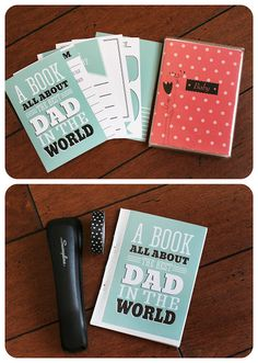 Mini scrapbook for Father's Day gift.  Print, the kids do the journaling.  Put into a cheapy 4x6 album.  Simple and wonderful!
