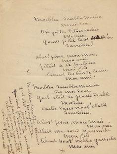 #Manuscrit de George Sand