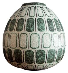 Large Ruscha Mid Century Ceramic Vase from West Germany, 1950s