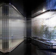 Imagem 2 de 13 da galeria de Sede do Banco Arquia & NO. U Glass, Glass Boxes, Architecture Details, Interior Architecture, Terrazo, Glass Partition, Landscape Walls, Banks Office, Commercial Interiors