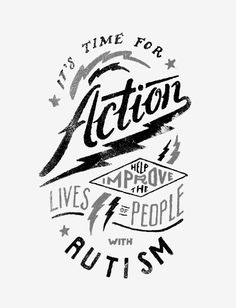 Why wait to raise awareness for precious kids with #autism and give them the tools they need to unlock their potential?! It's time for ACTION! Get this on a shirt HERE ► http://www.sevenly.org/?cid=PINTERESTdale