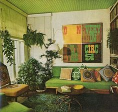 Groen seventies woonkamer go with the vlo