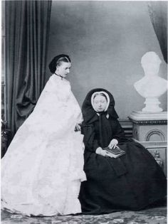 Alexandra and Queen Victoria