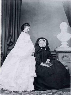 Alexandra and Queen Victoria