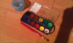 farby, potrzebne także  wkrety do bąbek
