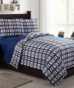 Loving this Spice Emmitt Comforter Set on #zulily! #zulilyfinds