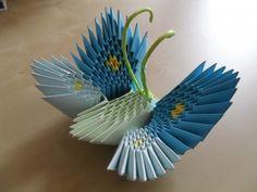D'environ 20 cm de largeur, et 13 cm de longueur, ce papillon fera son effet comme élément de décoration. Je peux le réaliser en plus petit, plus grand, et de couleur différen - 4672459 Origami 3d, Scrapbooking, Craft Patterns, Seed Beads, Paper Crafts, Etsy, Crafty, Bird, Inspiration