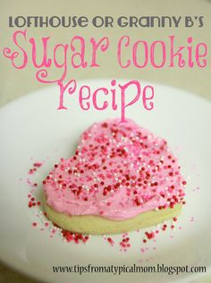 Tips from a Typical Mom: {Lofthouse or Granny B's} Puffy Frosted Sugar Cookies Recipe