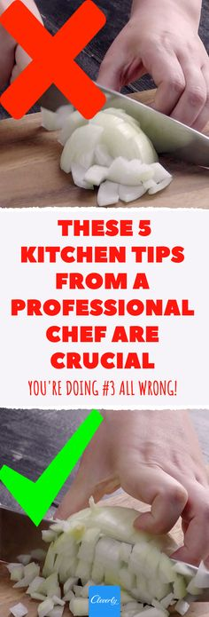 These 5 Kitchen Tips From A Professional Chef Are Crucial – You're Doing . These 5 Kitchen Tips From A Professional Chef Are Crucial – You're Doing All Wrong! - How To Chop Vegetables Correctly: 5 Kitchen Tips From A Professional Chef Vegetable Soup Healthy, Healthy Vegetables, Lifehacks, Low Calorie Recipes, Healthy Recipes, Eat Seasonal, Professional Chef, Le Chef, Chef Recipes