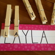 I tweaked a previous pin! My preschool students are going to learn their names while developing their fine motor skills!