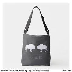 Belarus Belarusian Bison Зубр Беларусь Travel Crossbody Bag Crossbody Bags For Travel, Bison, Reusable Tote Bags