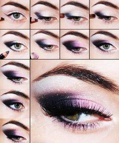 Purple smokey eye tutorial