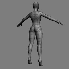Low poly base mesh female | Unity Community