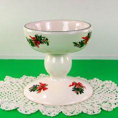 Figurine-Pfaltzgraff-Christmas-Candle-Holder-Planter-Vintage-Ceramic