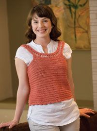4 Free Crochet Top Patterns including Crochet Vest, Wrap, Tank Top, and Crochet Cardigan