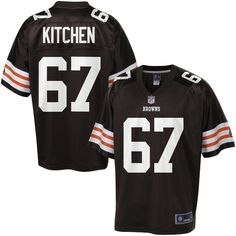 aaa7dc2d02d NFL Pro Line Men s Cleveland Browns Historic Logo Ishmaa Ily Kitchen Team  Color Jersey Lineman