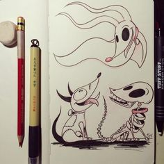 Day 28 of Sparky, Zero, and Scraps. A Tim Burton request XD. This was fun to draw. Are these all the same dog? I'm a huge Tim Burton fan and a lot of his original art is my. Tim Burton Stil, Tim Burton Kunst, Tim Burton Drawings, Tim Burton Sketches, Tim Burton Artwork, Desenhos Tim Burton, Art Sketches, Art Drawings, Drawing Art