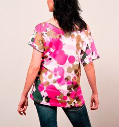 """I´m Choco-late (T-Shirt Carol Moon """"One"""") Latest T Shirt, Floral Tops, Moon, Shirts, Collection, Fashion, The Moon, Moda, Top Flowers"""