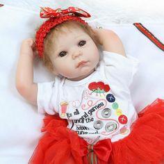 Free Shipping Cheap 50 cm Realistic Reborn Baby Dolls For Sale Cute Lifelike Newborn Babies With Cloth 1 Set Best Reborn Dolls