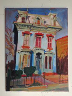 Blue Music School by Janet Pedersen on Artsicle