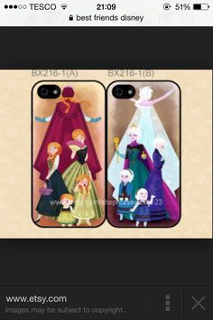 Frozen matching phone cases