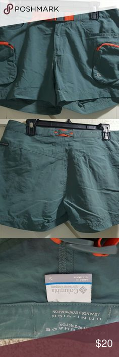 Columbia Omni Wick Shorts Light and comfortable. Great for hiking, kayaking, etc. Only worn twice. The extra pockets are very convenient! Columbia Shorts