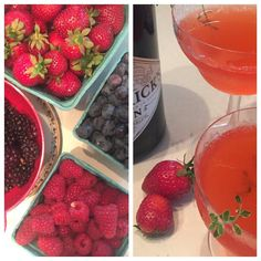 A trip to the farm sand leads to these lovely cocktails - Savory Strawberry Thyme and Gin (Hendrick's that is) #loveoregon #fridaynight @hendricksgin