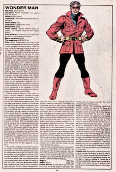 The Official Handbook of the Marvel Universe Issue - Read The Official Handbook of the Marvel Universe Issue comic online in high quality Marvel Comic Character, Marvel Comic Books, Comic Book Characters, Marvel Characters, Comic Books Art, Book Art, Marvel Comics Superheroes, Marvel Art, Marvel Heroes